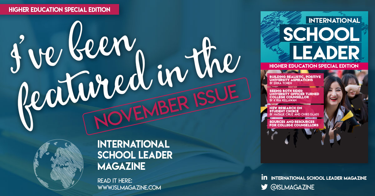 Seeing Both Sides: a personal contribution for International School Leader Magazine, November 2019